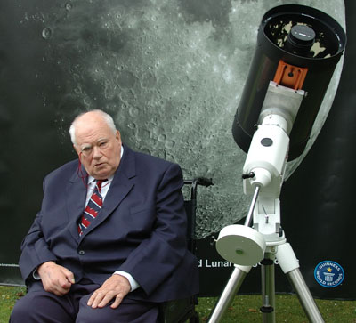 Sir Patrick Moore with the finished image